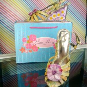 Lucite daisy wedges